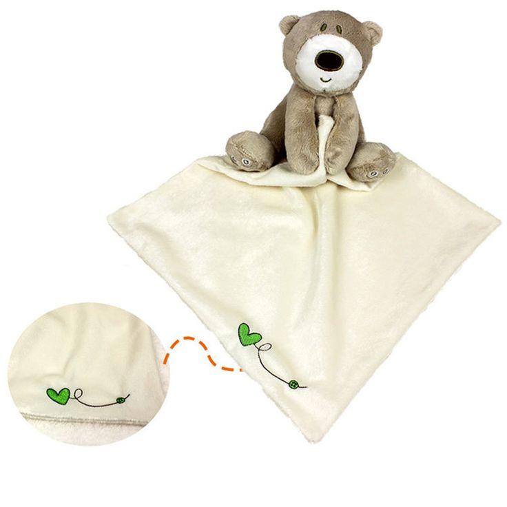 유아 안심 수건 곰 blankie 개발 아기 장난감 신생아 선물 달래기 수건 교육 봉제 장난감