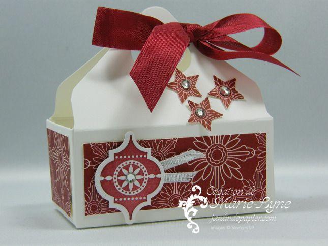 panier de Noël, Stampin'UP!, jardin de papier, planche de marquage insta enveloppe