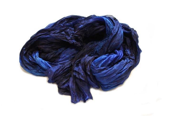 blue silk scarf - Anemona -  royal blue, navy blue, blue silk scarf. by valezhki on Etsy https://www.etsy.com/listing/186214406/blue-silk-scarf-anemona-royal-blue-navy