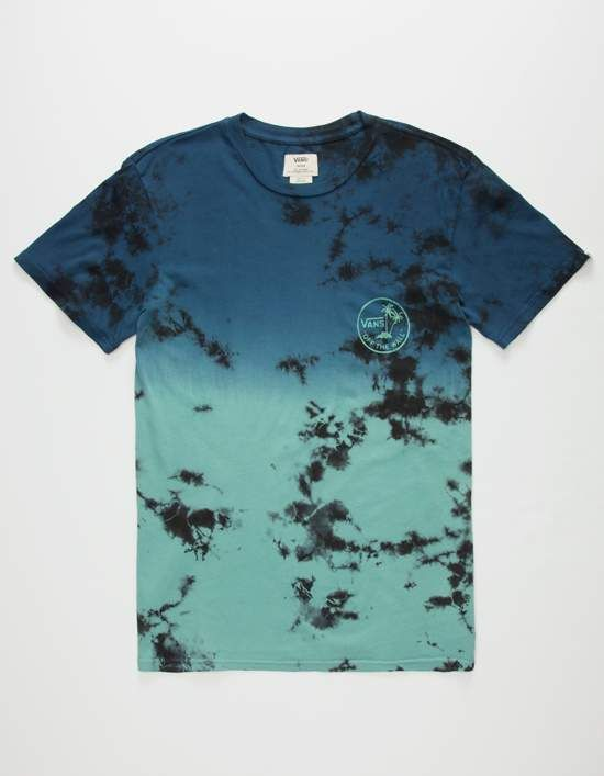 23fec121a2 Vans Washed Out tee. Vans logo graphic screened at left chest.