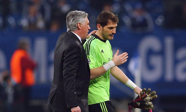 Casillas: I was angry with Ancelotti over game time at Real Madrid