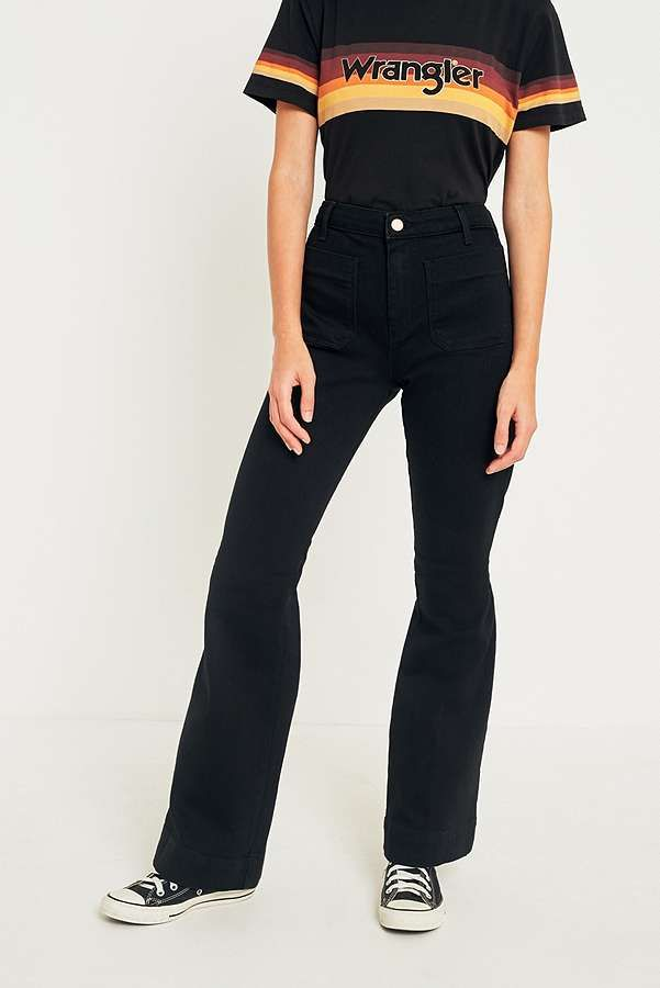 3d4ff213 Wrangler Retro Black Flare Jeans   Vintage   Flare jeans, Jeans ...