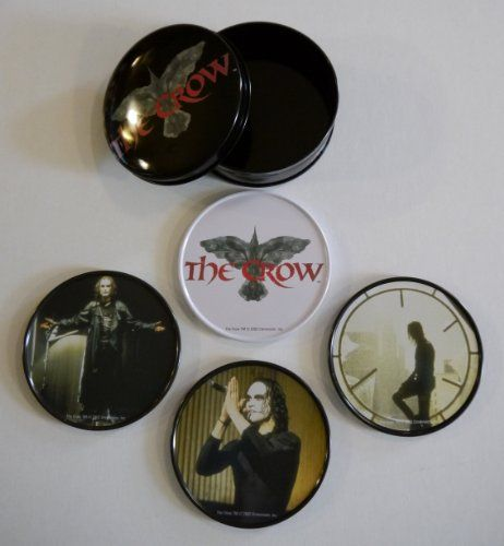 The Crow 4 Coaster Set with Collectible Tin @ niftywarehouse.com #NiftyWarehouse #TheCrow #Crow #Movie #Film #Cult #CultMovies #CultFilms