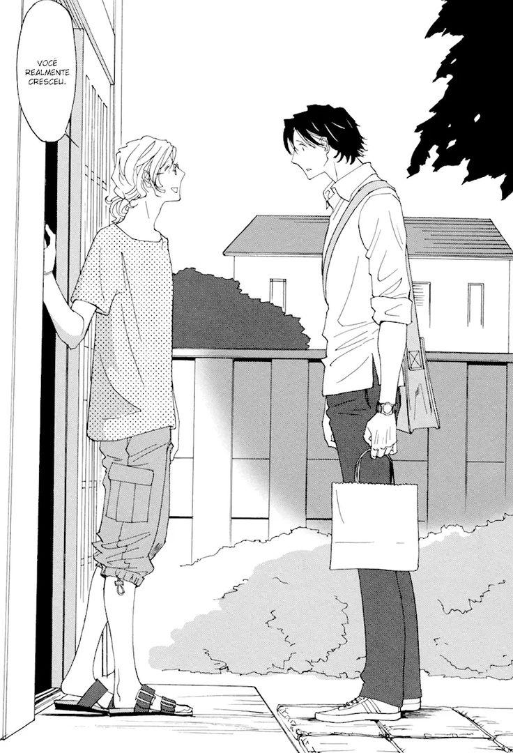 Homura Yuuya não consegue esquecer o que aconteceu há dez anos atrás. Durante a primavera de seu terceiro ano escolar do ensino médio, Kiriaki, um professor de artes, foi transferidopara sua escola. Com suas roupas espalhafatosas e coloridas, logo chamou a atenção de Homura. Com o tempo a amizade dos dois se fortalece, Homura começa a passar seus dias na sala de arte junto com Kiriaki, e logo se vê apaixonado pelo professor. Certo dia, Homura pede a Kiriaki para que seja seu modelo para um…