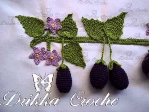 Explicacao de como fazer as Rosinhas delicadas, botao e folha tudo em croche. flor em croche - YouTube