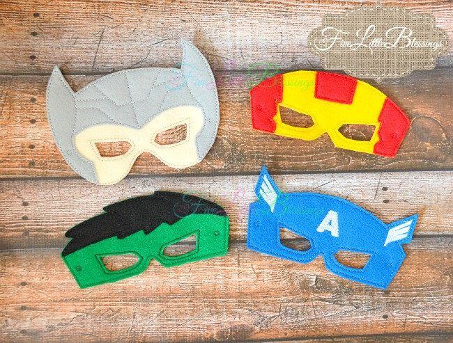 Super Hero Mask - Mask - Dress up - Costume - pretend - Halloween - hulk - captain america - thor - iron man - birthday - hero by FiveLittleBlessings on Etsy https://www.etsy.com/listing/195906890/super-hero-mask-mask-dress-up-costume
