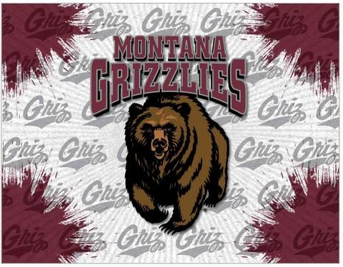 Shop Montana Grizzlies HBS Gray Maroon Wall Canvas Art Picture Print