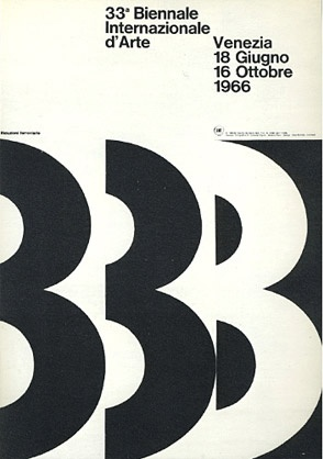 Bob NoordaVenezia 1966, 1970 Logo Graphics, Two-Year, Bobs Noorda, Graphics Design, Venice, 33A Biennale, Posters, Biennale Venezia