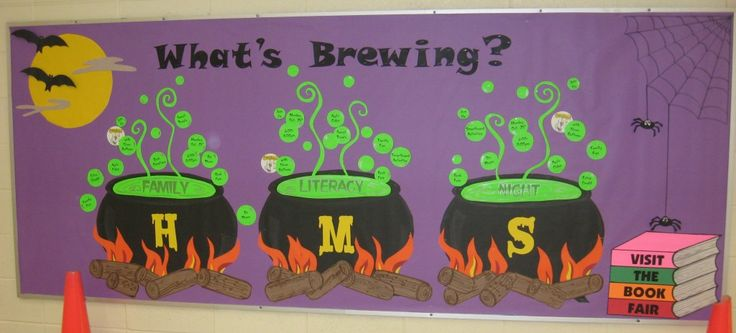 Love this Halloween bulletin board.  Depending on your school system/principal, Halloween bulletin boards may be frowned upon though.