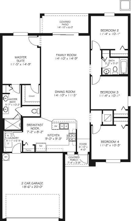1000 images about floor plans on pinterest preserve for Patio home plans with rear garage