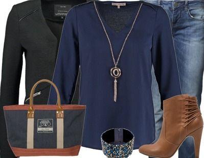 Un joli style bleu et marron. Une tenue sobre mais qui marche à tous les coups ! A retrouver ici : http://stylefru.it/s656160 #bleu #marron #tenuedujour #ootd