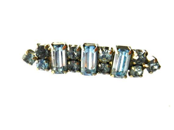 Rare KRAMER Aquamarine stones & silver tone Art by RAKcreations
