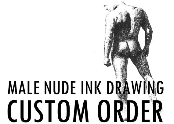 Let me draw male nude from your favorite photo  by NudeSpirit