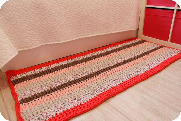 118 mejores ideas sobre mi crochet en pinterest trapillo patrones y camas de gato - Tutorial alfombra trapillo ...