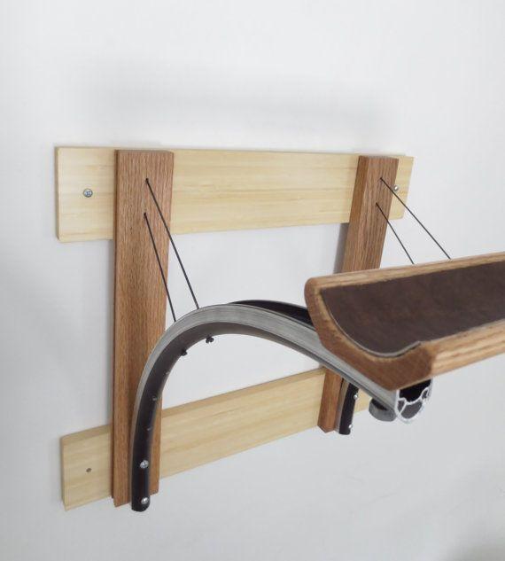 Bicycle Parts & Reclaimed Wood Bike Rack