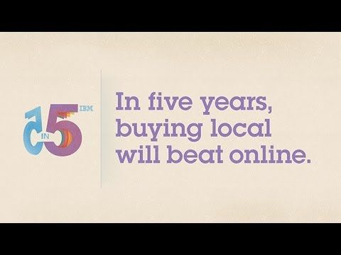 The future of shopping.  In five years will buying local beat online?