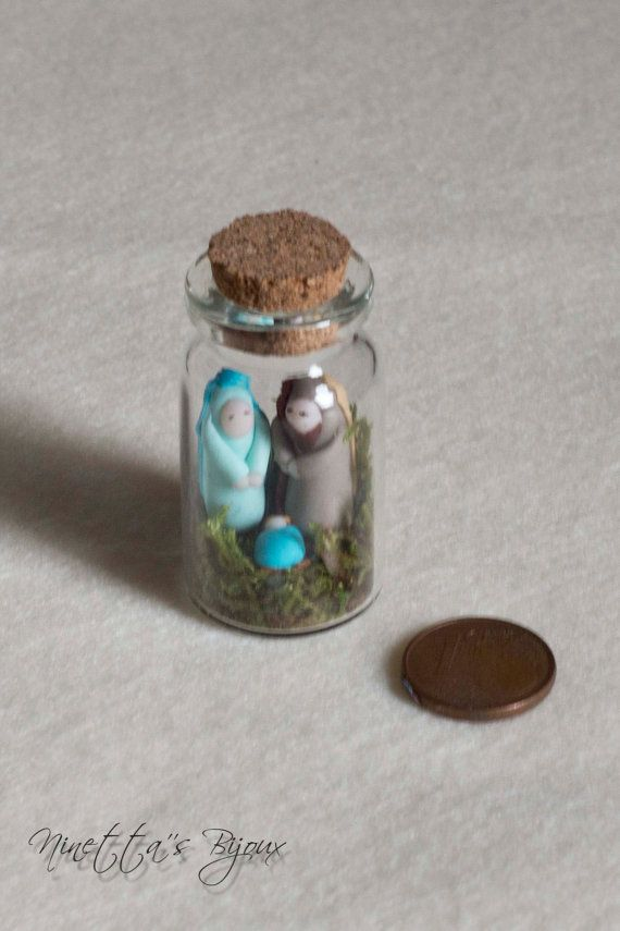 Miniature polymer clay Nativity scene by NinettaBijoux on Etsy