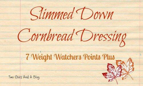 Slimmed Down Cornbread Dressing