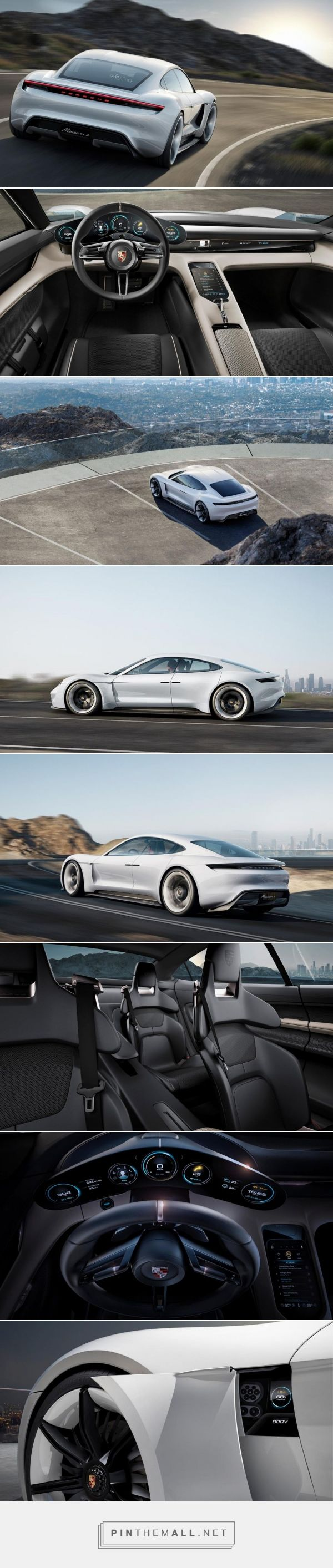Porsche Mission E announced, an electric sports sedan that charges faster than a Tesla | The Verge - created via http://pinthemall.net
