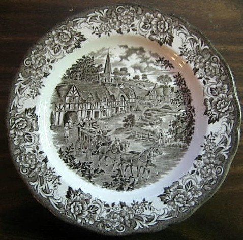 Decorative Dishes - Dark Brown Toile England Horses Vintage Plate L $29.99 ( & 51 best Decorative Dishes with Horses images on Pinterest ...