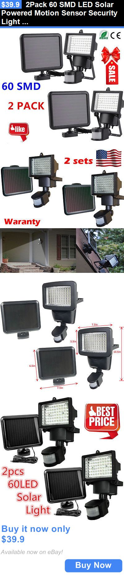 farm and garden: 2Pack 60 Smd Led Solar Powered Motion Sensor Security Light Flood Light Lamp Hms BUY IT NOW ONLY: $39.9