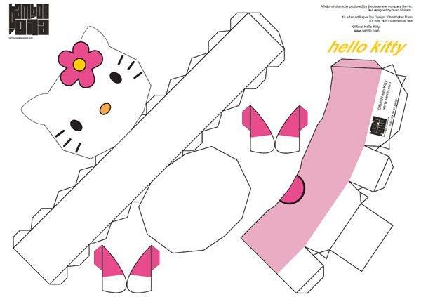 678 hello kitty paper toy template Hello Kitty paper toy