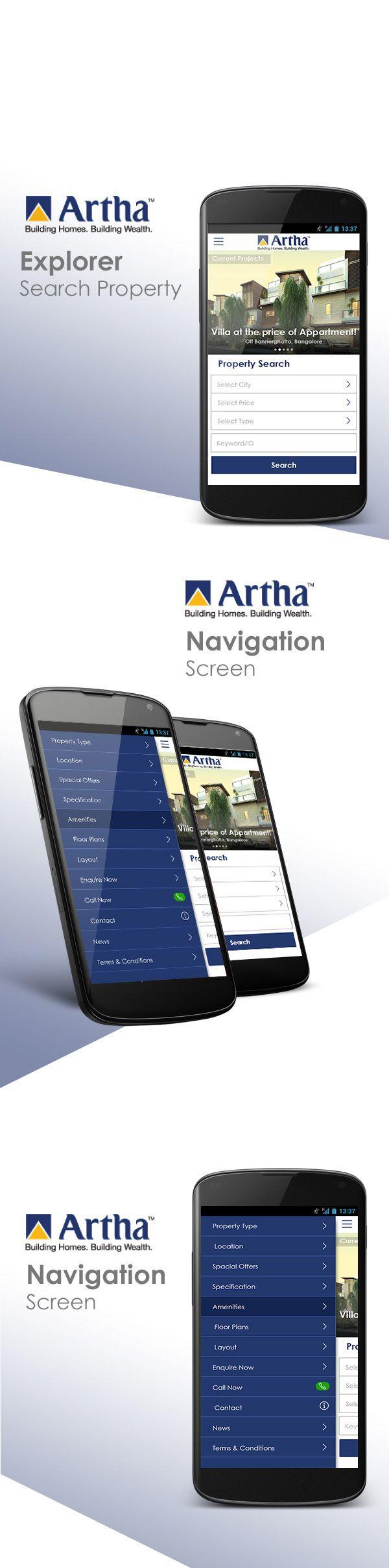 Aritha Developers by Sharan Surpur, via Behance