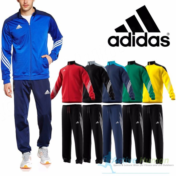 Adidas Mens Adidas Tracksuit Joggers Bottoms Pants Top Small Medium Large XL XXL #Adidas #Tracksuit