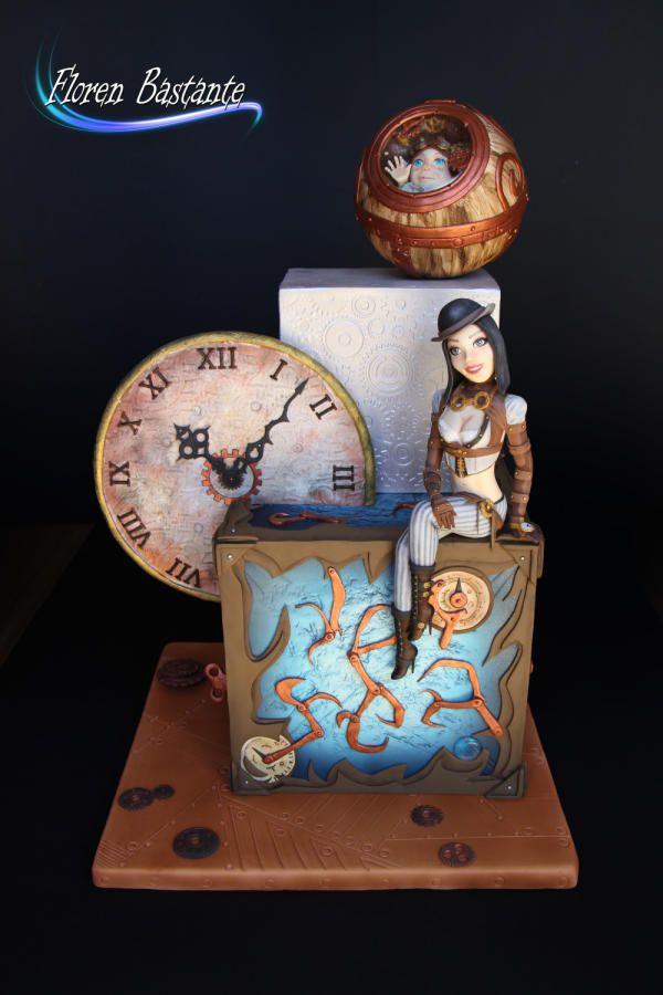 """Steampunk 21st Century"" Steam Cakes - Steampunk Collaboration - Cake by Floren Bastante / Dulces el inflón"