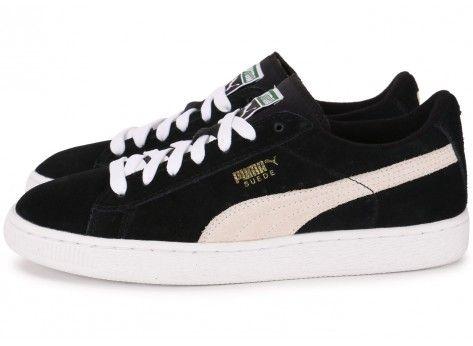 Chaussures Puma Suede Junior noire vue extérieure