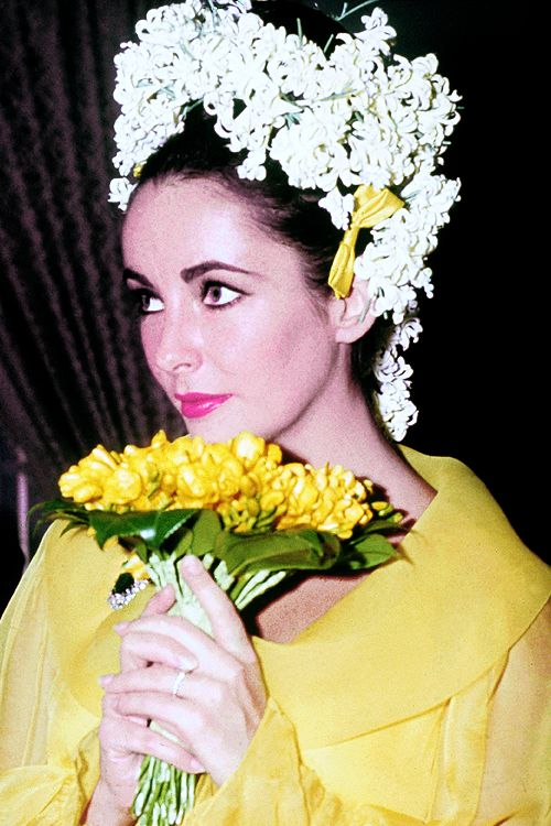 Elizabeth Taylor on the day of her first marriage to Richard Burton, March 19, 1964.