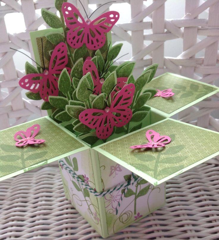 Tuin met vlinders kaart