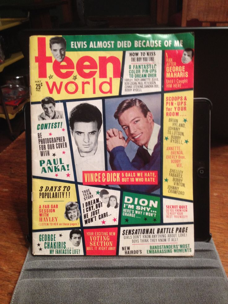 Vintage Teen World Magazine May 1963 by HighwaterGal on Etsy https://www.etsy.com/listing/218277668/vintage-teen-world-magazine-may-1963