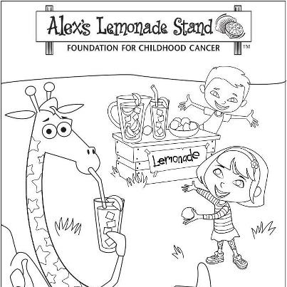 color this in and show your support for alexs lemonade stand foundation in their fight against