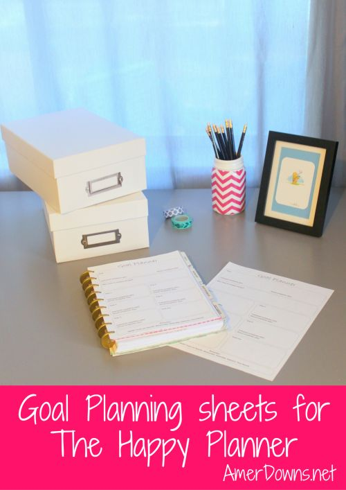 Free goal planning sheet for your Create 365 Happy Planner.