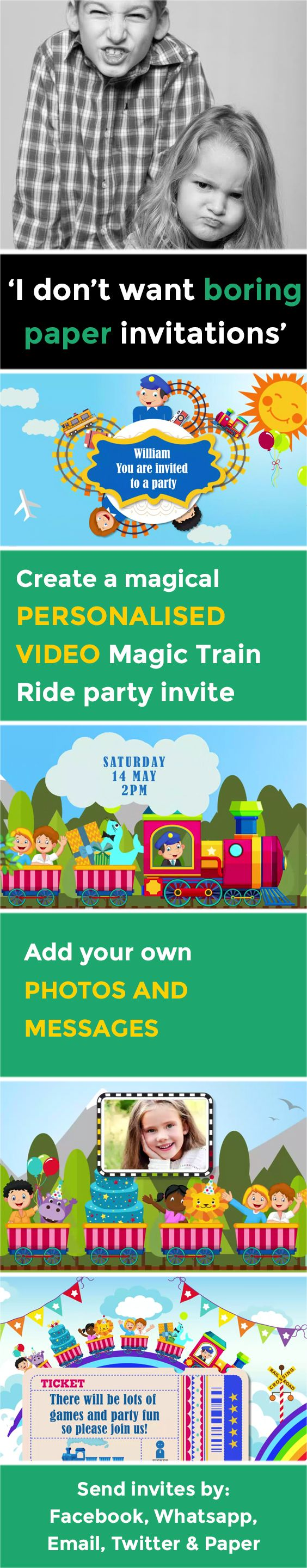 birthday party invitation templates free printable%0A Create the perfect kids video party invitation that makes organising your  party a piece of cake  Children u    s evites have never been so magical