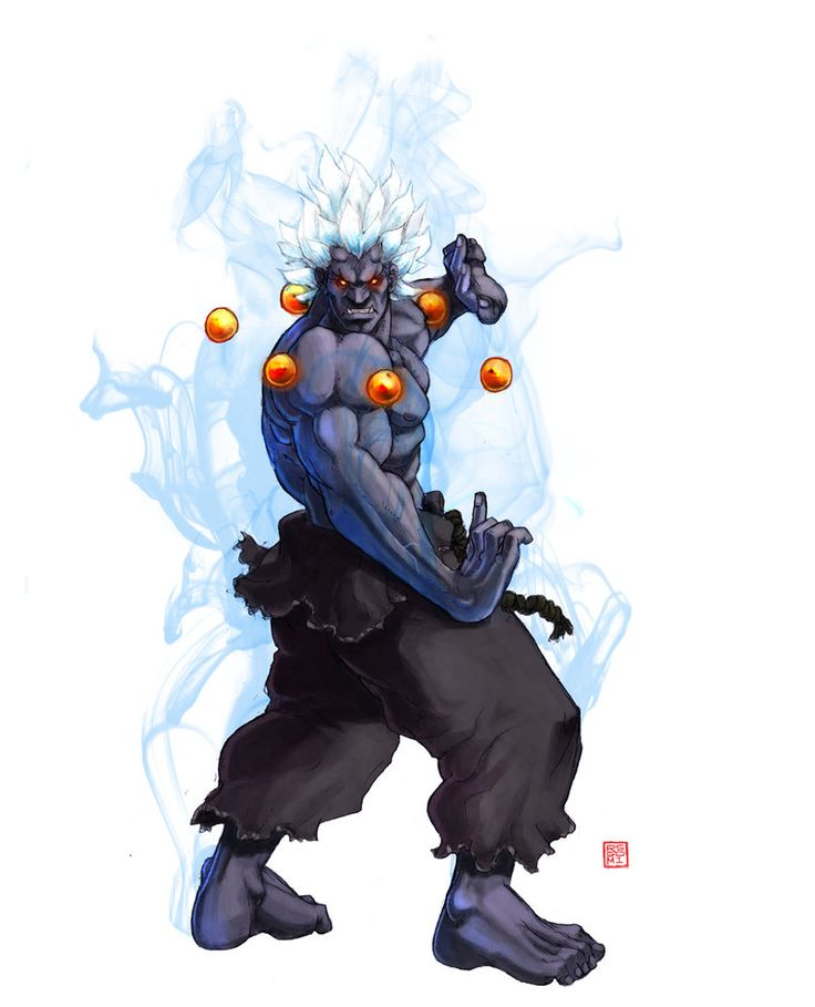 Oni Akuma SSF4 by ~rgm501 on deviantART