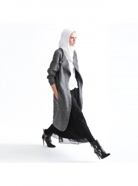 RUN! WOOL COAT grey
