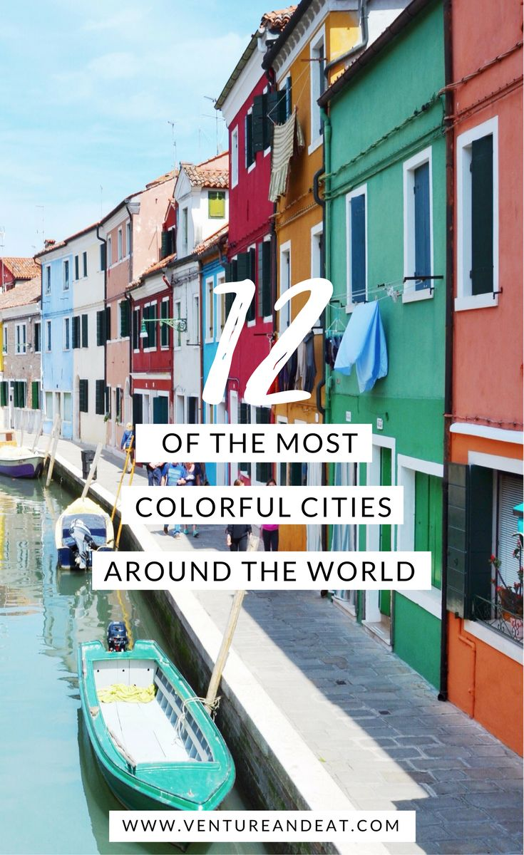 Travel Inspiration | Wanderlust | Who else wanderlusts after colorful cities? Fuel your wanderlust with 12 of the Most Colorful Cities in the World!