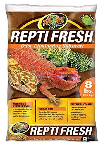 ReptiFresh® is the first odor eliminating substrate for use in reptile terrariums. ReptiFresh® can be used with the following types of reptiles: Bearded dragons Leopard Geckos Uromastyx Lizards d...