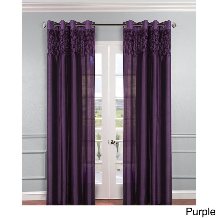 Emanuel Faux Silk Curtain (52×84, purple), Size 52…
