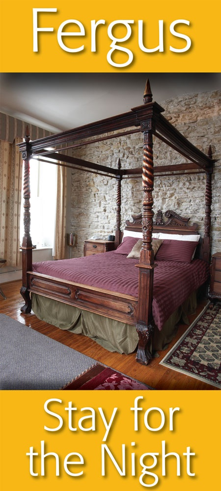 Stay for a night in one of our local bed & breakfasts ... in Downtown Fergus !   https://www.facebook.com/pages/Downtown-Fergus/117343701609424