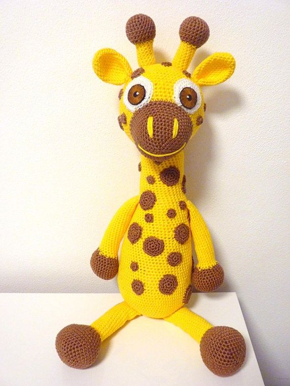Crochet Pattern Giraffe Zoe Amigurumi PDF Cute Yellow by SKatieDes