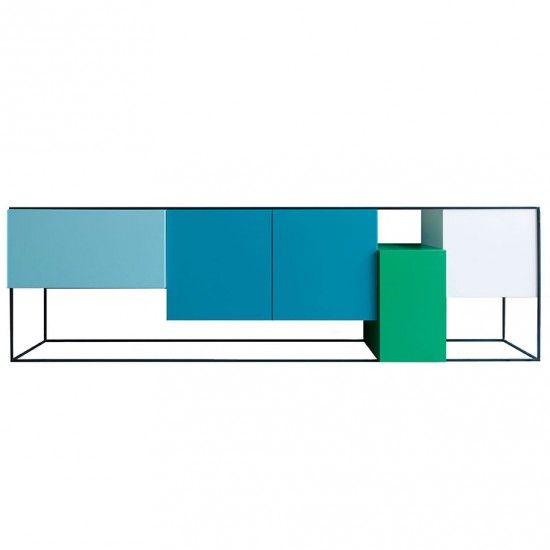 monoqi 4 modul sideboard blau gr n wohnzimmer pinterest modern aufbewahrung und. Black Bedroom Furniture Sets. Home Design Ideas