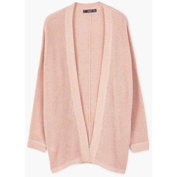 Dolman Sleeve Cardigan (£20) ❤ liked on Polyvore featuring tops, cardigans, dolman sleeve cardigan, pink cable knit cardigan, pink cardigan, mango tops and pink top