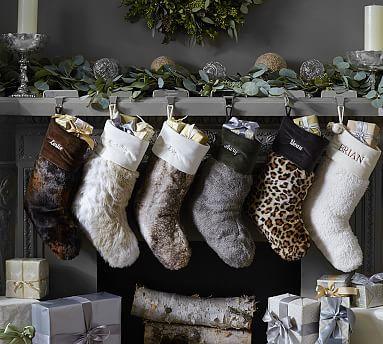 Faux Fur Stockings #potterybarn