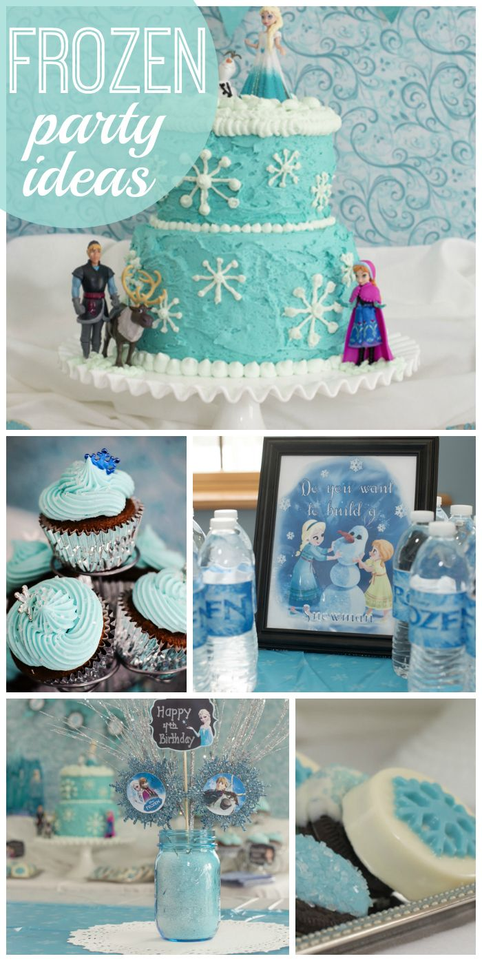 Frozen parties are so popular right now for girl birthdays and this one is just lovely!  See more party ideas at CatchMyParty.com!
