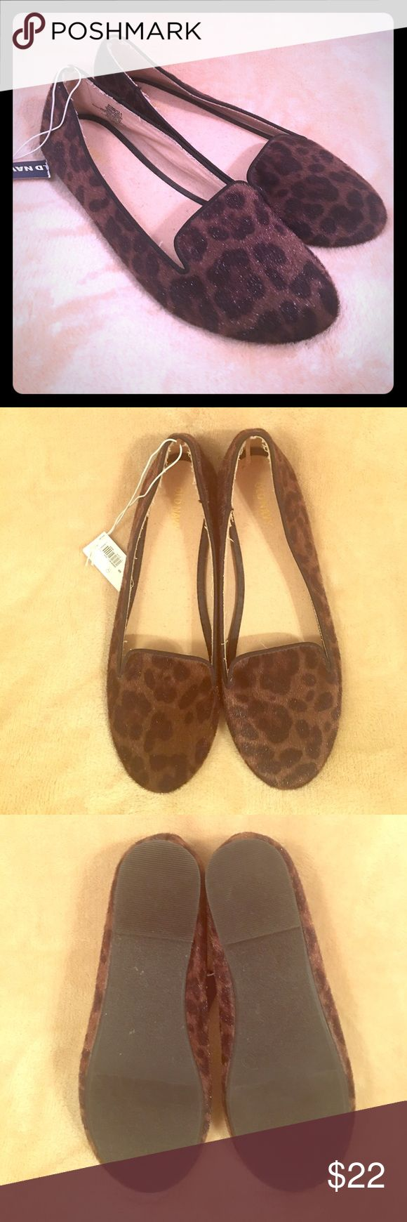 🆕Old Navy Flats New with tags. Brown leopard print, faux calf hair. Tag has been ripped, but shoes are unworn. Old Navy Shoes Flats & Loafers