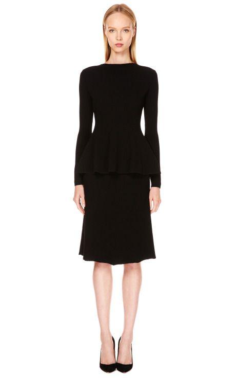 Jannah High-Waisted Waffle-Knit Skirt by Calvin Klein Collection - Moda Operandi