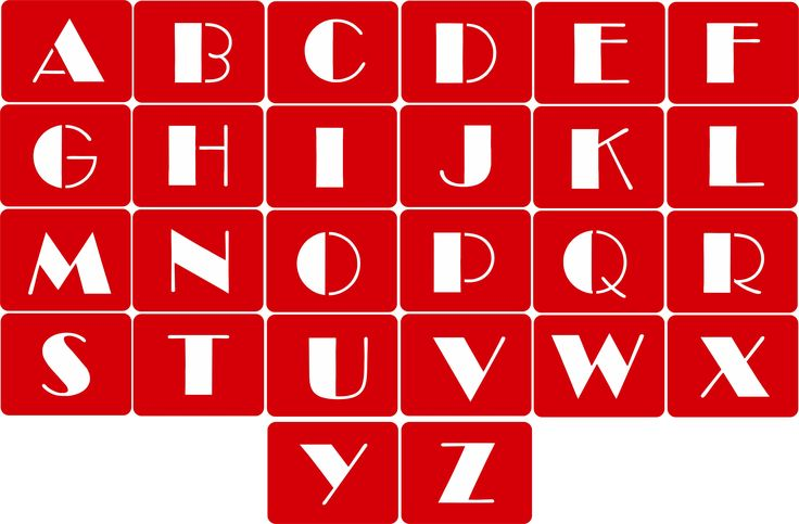 CODE: A103. NAME: Alphabet Stencil (Broadway Font). SIZE: 5cm, 7cm & 10cm. Available from RD Designs. Contact: renchea@rddesigns.co.za.